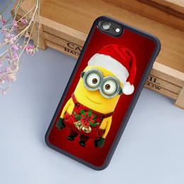 Feliz natal iphone on-line-Merry christmas minions casos de telefone celular para iphone 6 6 s plus 7 7 plus 5 5S 5c se 4 s tampa traseira