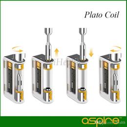 Aspirar bobinas de plato online-Aspire Plato Coil 0.4ohm Clapton Cabezal de repuesto para el kit Plato 100% original para atomizador Sub Ohm