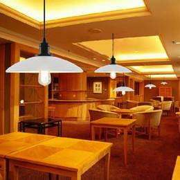 Wholesale E27 Pot Lights - Retro Pot Chandelier Nordic Minimalist Style Restaurant, White iron paint, Bar and Coffee Shop Metal Ceiling Lamp Shade