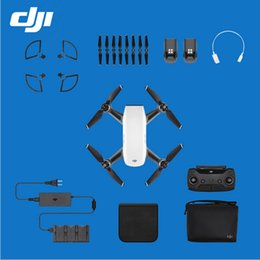 Wholesale Rc Quadcopter Dji - In stock !! Original DJI Spark Fly More Combo (Alpine White) FPV Quadcopter RC Helicopter Enhance Your Spark 5 Colors Available VS Mavic Pro