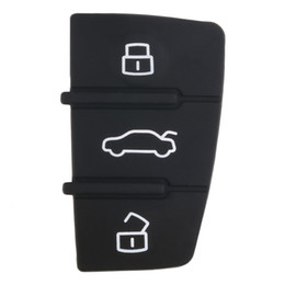Wholesale rubber key pad - Repair 1 pcs Remote Key FOB 3 Button Rubber Pad Replacement Fits for Audi A3 A4 A6