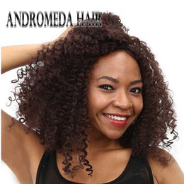 Wholesale Long Reddish Brown Hair - Synthetic Afro Kinky Curly Wigs for Black Women African American Reddish Brown Long Hair 18 inch 300g