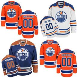 Wholesale Custom Name Jerseys - Edmonton Custom Edmonton Oilers Jerseys Any Name Any Number Cheap Ice Hockey Jerseys Customized Home Hockey Jersey Stitched Top Quality