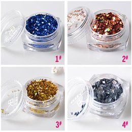Wholesale Wholesale Professional Acrylic Powder - Wholesale- 1Pcs 2g BK Brand Glitter Nail Acrylic Powder Professional Decorate Nail Art Cosmetics Accessories Sequins Nail Polish