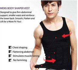Wholesale Mens Vests For Sale - Hot sales mens body shaper shirt waist trimmer Vest slimming corset for men Belly Fatty thermal Underwear