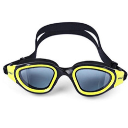 Wholesale Glass Swimming - Wholesale Anti-fog UV Protection Goggles Swimming Glasses Goggles Anti Fog 3D Silicone Waterproof Eye Protector Diving Goggle Free Shipping
