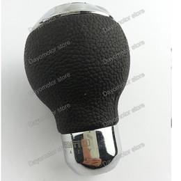 Wholesale Audi Gear Knob - High Quality Universal momo Leather Aluminum Shift Knob Car Gear Shift Knob Manual Transmission Stick