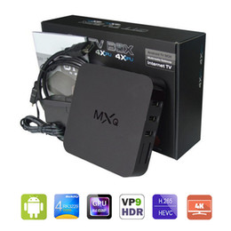 Wholesale Android Factory Settings - Factory Sales MXQ TV BOX 4K Rockchip RK3229 Quad Core Android 6.0 OTT TV Box Airplay Programs Media Player KD 17.1 4K TV Set Top Box