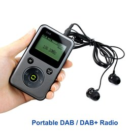 Wholesale Digital Stereo Receivers - Wholesale-Portable DAB Radio FM Stereo Radio Receiver Digital TF Card MP3 Player Pocket Radio Station PPM001 Y4107H