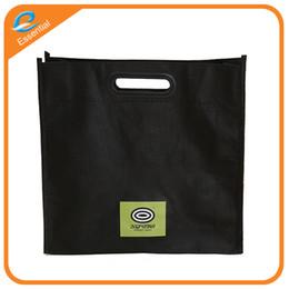 Wholesale Print Logo Handbag - Custom logo color coated non-woven shopping bag handbag green clothes.