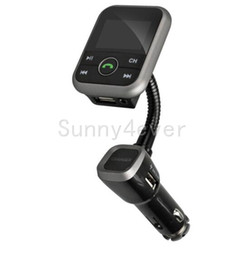 Wholesale Car Speaker Support Sd Card - BT67 Stereo Bluetooth Handsfree Car MP3 FM Transmitter 2.1A USB Car Charger with AUX-in Support SD Card For Iphone samsung ipad