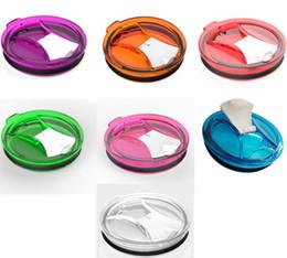 Wholesale Spill Proof Cups - News Tumbler 30oz Spill Proof lids foldable flip lids For Yeti RTIC Trails Tumbler Cups coolers 30 oz cups 100% spill proof replacement lids