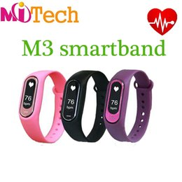 Wholesale Cheap Band Bracelets - Wholesale cheap price M3 Smart Band Heart Rate Blood Pressure Pulse Meter Bracelet Fitness Watch Smartband for iOS Android PK Fitbits ID107