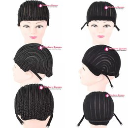 Wholesale Cheap Wigs Weaves - Cheap Fashion Cornrow Wig Caps For Making Wigs With Combs Braided Cap For Weave Crotchet Braiding Wig Adjustable Cap Crotchet Braids