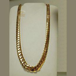 "Wholesale Diamond Necklace White Gold - 14K Gold Miami Men's Cuban Curb Link Chain Necklace 24"" Heavy 311.6 Grams 13mm"
