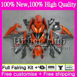 Wholesale Gsxr Grey - Body For SUZUKI GSX R600 K6 GSX-R750 Orange grey GSXR 600 06 07 25HT17 GSX-R600 GSXR750 06 07 GSXR 750 GSXR600 2006 2007 Motorcycle Fairing