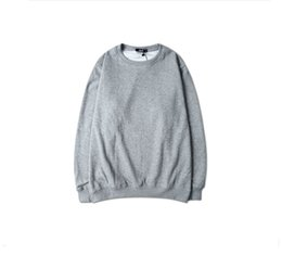 Wholesale Plain Fleece Pullover - ONE FOR FREE ! Wholesale Men Cotton fleece streetwear 8 colors plain long sleeve oversize hit pop sweatshirt hoodie for man S-3XL