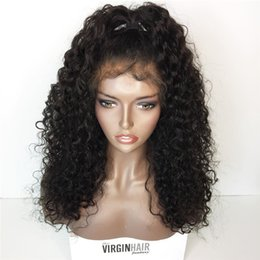 Wholesale Thick Density Lace Front Wigs - Silk Top Full Lace Wig Bouncy Kinky Curly Thick Density 180% Virgin Human Hair Lace Front Wigs For Black Women