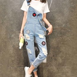 264e6fa521ce Wholesale- Preppy Summer Women Denim Jumpsuit 2016 Macacao Feminino Vintage Rompers  Womens Jumpsuit Jeans Holes Women Overall Playsuit affordable macacao ...