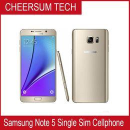 Wholesale Note Phones Accessory - Free DHL Refurbished Original Samsung Galaxy Note 5 N920P N920T N920V N920A Unlocked Phone Octa Core 4GB 32GB 5.7 Inch 2560 x 1440