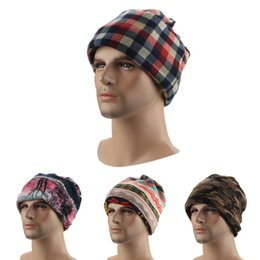 Wholesale mens cowboy beach hat - Beanie + Mask + Scarf 3 in 1 Winter warm cashmere slouchy beanies Mens and womens hats 8 colors wholesale free shipping
