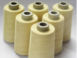 Wholesale Flame Retardant Fabrics - 1414 yellow flame retardant wire fire protection clothing anti train thread electric welding glove material sale for roll