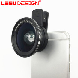 Wholesale Good Quality Fish - 3 in 1 Universal Clip Fish Eye Wide Angle Macro Phone Fisheye glass camera Lens For iPhone Samsung good quality