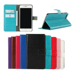 Wholesale Multi Case Iphone 4s - Hot Crazy Horse Leather Wallet Case Multi-function Flip Cover Kickstand HolsterFor Apple iPhone 5 5S SE 5C 4 4S 6 6S 7 Plus