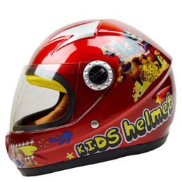 Wholesale Child Motorcycle Helmet - Wholesale- 2016 New Hot High Quality Cartoon Children Motorcycle Helmets with Goggle and Scarf 4 Colors Boy Girl Protective Cycling Casque