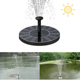 Wholesale Solar Powered Plants - Solar Water Pump Power Panel Kit Fountain Pool Garden Pond Floating Pump Set Submersible Plants Watering Display