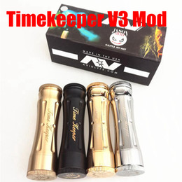 Wholesale Electronic Cigarette Mod Mech - Timekeeper V3 Mechanical Mod C lone Electronic Cigarettes Vapor Mods fit 18650 Battery Time Keeper V3 Huge Vape Mech Mod DHL Free