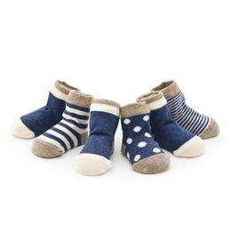 Wholesale ankle skid socks - Cotton Kids Room Ankle Socks Cartoon Stripe Dot Baby Skid Resistance Hosiery Cute Soft for Boys Girls Fashion Children New