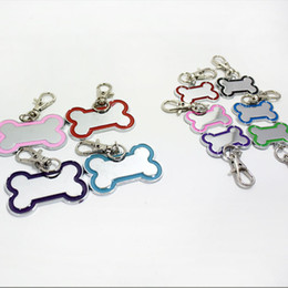 Wholesale Bones Number - Fashion Dog Bone Shape Name ID Tags Metal Identity Phone Number Pet Tag Free Shipping ZA5332