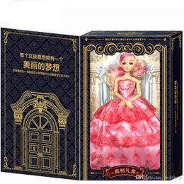 Wholesale Bjd Wedding Dress - New Sweetheart Babe Princess Doll Fashion Party Wedding Dress Moveable Joint Body Classic Toys Best Gift For Girls Exquisite Box