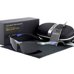 Wholesale Mens Aluminum Alloy Sunglasses - Fashion Polarized Luxury Brand Mens Designer Sunglasses With Frame Aluminum Magnesium For Driving High Quality UV400 Sun Glasses For Men