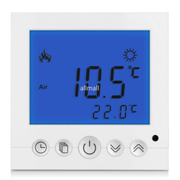 Wholesale Digital Display Thermostat - Freeshipping Digital Room Floor Heating Thermostat Blue LCD Display Programmable Weekly Temperature Controller