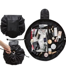 Wholesale Bag Cosmetic Beauty Case Waterproof - Drawstring Cosmetic Bag Women Travel Portable Beauty Toiletry Pouch Brush Storage Organizer Travel Makeup Case Waterproof