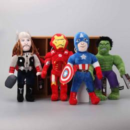 "Wholesale Superheroes Plush Toys - Hot Sale 12"" 30 cm Superhero Advengers Iron Man Captain America Hulk Thor Plush Toy Stuffed Dolls For Baby Gifts"