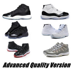 Wholesale Advanced Shoes - 11 bred concord Legend gamma blue lows XI men basketball shoes cheap sneakers 2016 pantone black Advanced Quality Version Sneakers