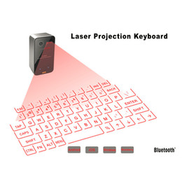 Wholesale Mini Mouse Speaker - Virtual Laser Keyboard and Mouse for iPad iPhone tablet with Mini Bluetooth Speaker Wireless Bluetooth Keyboard Voice Broadcast