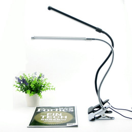 Wholesale Eye Protection Desk Lamp - Eye Protection Led Reading Desk Lamp With Clip Two level Brightness Switch Dimmer Table Lamp Energy Saving