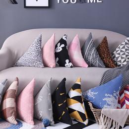 Wholesale Straw Stars Wholesale - Triangle Pillow Comfortable Creative Lattice Shape Back Cushion Home Sofa Bedroom Decoration For Many Styles 21jl C R