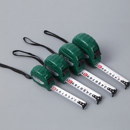 Wholesale Pull Keychain - measure tapes 3 5 7.5 10mTape Measure keychain keychains Steel Ruler Portable Pulling Rulers With Key Chain rings christmas Measuring tools