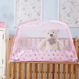 Wholesale Child Cot Beds - Wholesale- baby crib mosquito netting net bed for babies kids children child mosquito net for baby crib baby bed cot canopy mosquito net