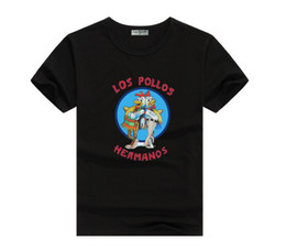 Wholesale Los Pollos Hermanos T Shirt - new fund 2017 Los Pollos Hermanos rooster fashionable men coat of high quality printing men t-shirts sent free of charge