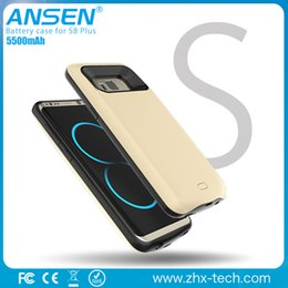 Wholesale Charger Cases For Galaxy - 5500mah Power bank Case For Samsung galaxy s8 plus S8+Portable Charger Power battery case in stock