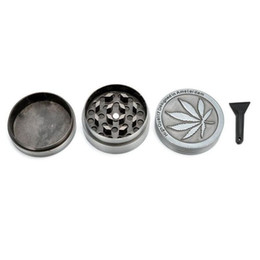 Wholesale Designed Herb Grinder - Amsterdam Grinders 4 Parts Grinders Zinc Alloy Herb Grinders Metal Ginder Herb Spice Crusher Magnet 3 parts Free Scraper Designed with Polle
