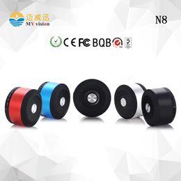 Wholesale N8 Speaker - Wholesale- (Free to EUR) My vision N8 altavoz Bluetooth Mini Portable Speaker Loudspeaker With MIC TF Card Slot Best Kalonki Christmas Gift