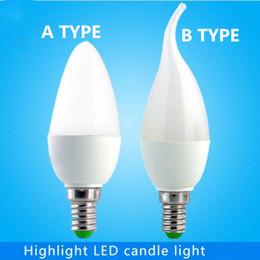 Wholesale 3w E27 Smd3528 - LED Canndle Bulbs Light Bulb E27 E14 SMD3528 Globe Bulbs Lights 3W 5W LED Light Bulbs Cool White