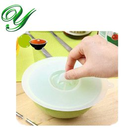 Wholesale Silicone Airtight Cup Coffee - Silicone Bowls Covers Suction Seal Stretch Lid 3 Sizes Clear Lids for Pots Container Coffee Mug Airtight Microwave Safe Cup Cap Food Storage